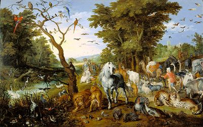 Brueghel, Jan 1613 Animals at Ark