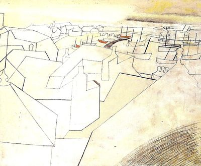 St Ives Harbour from Trezion.Ben Nicholson.1951