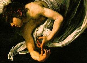 Caravaggio 1602 Mathew & angel