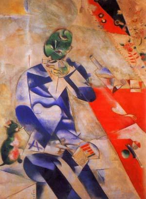 Chagall 1911 Poet - Half past three