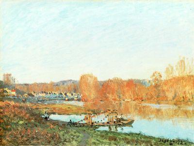 Sisley 1873 Autumn Seine at Bougival