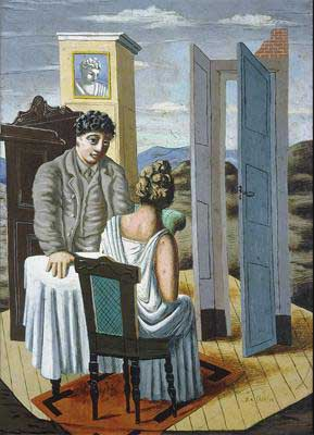 DeChirico1927Conversation Among the Ruins