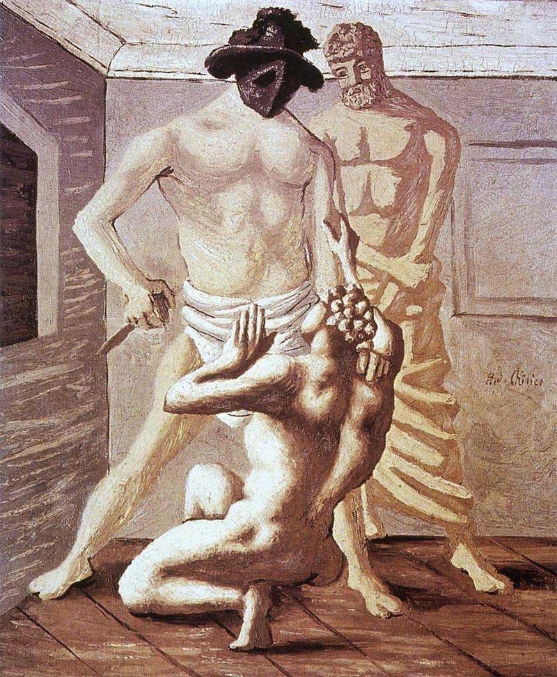 DeChirico1927Scuola di gladiatori