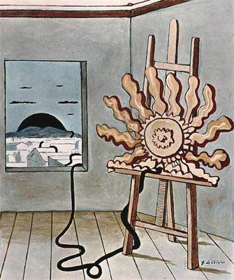 DeChirico1966Sunlight on an Easel