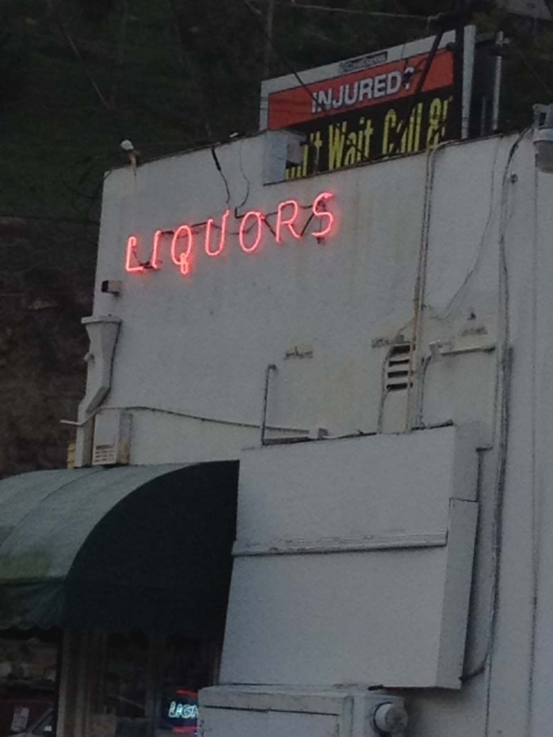 Liquors sign on Glendale